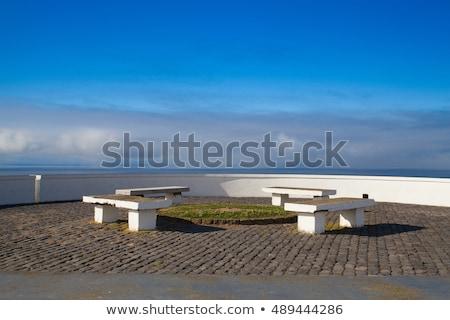 deniz · görmek · Portekiz · su · bulutlar · gün · batımı - stok fotoğraf © capturelight