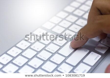laptop · kluczowych · obraz · palec · współczesny - zdjęcia stock © stevanovicigor