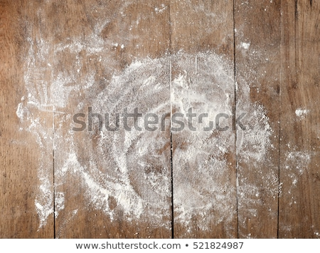 Wheat flour on wooden board Stock photo © Digifoodstock
