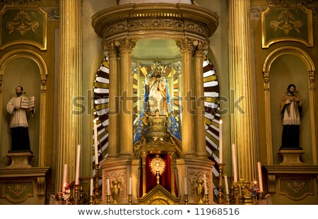 Pani bazylika ołtarz posąg christmas Meksyk Zdjęcia stock © billperry