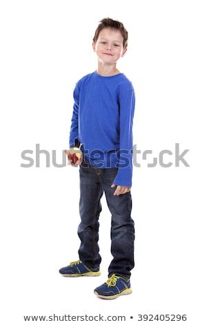 мальчика яблоко шесть лет старые Сток-фото © zdenkam