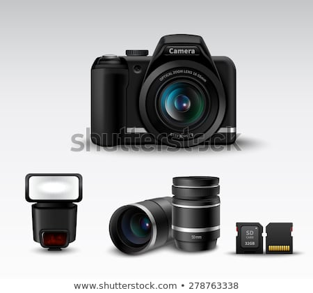 Illustration of Digital photo camera in the box. isolated on white background Stock photo © tussik