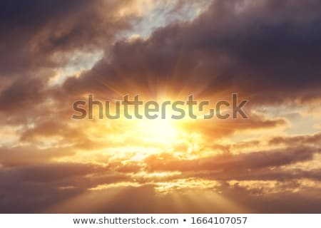 scenic dark clouds with sun Stock photo © meinzahn