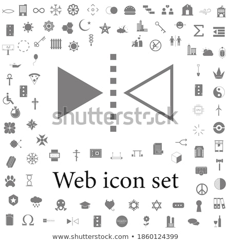 Redo reflect vertical line icon. Stock photo © RAStudio