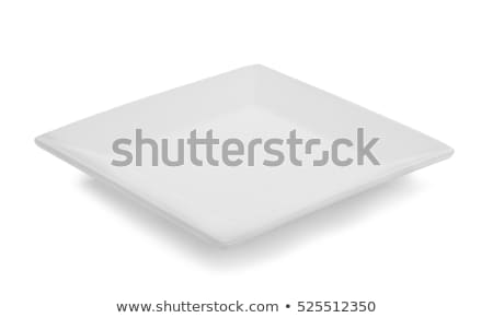 Branco profundo praça prato ondulado Foto stock © Digifoodstock