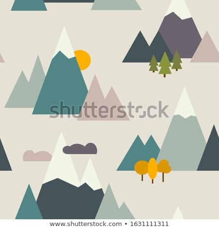 Senderismo turismo naturaleza viaje Foto stock © vectorikart