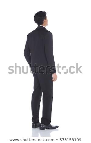 délkelet · ázsiai · üzletember · áll · egészalakos · vonzó - stock fotó © szefei