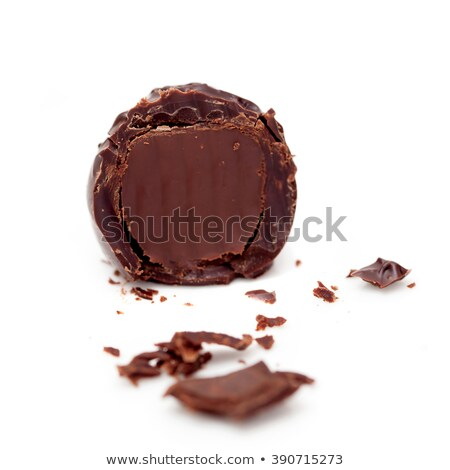 Stock photo: half a chocolate praline