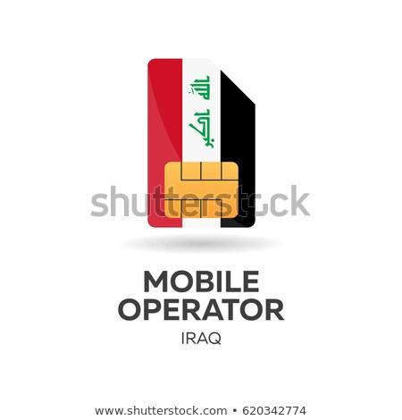 Mobil kezelő kártya zászló absztrakt terv Stock fotó © Leo_Edition