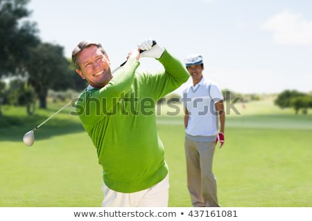 Stock photo: Digitally composite image of male golfer