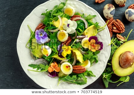 чеснока · картофельный · салат · копченый · рыбы - Сток-фото © joker