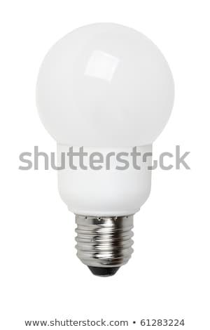Fluorescencyjny lampy odizolowany biały świetle technologii Zdjęcia stock © digitalr