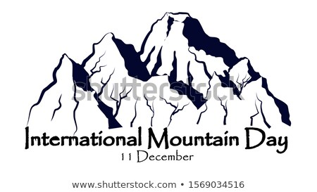 December nemzetközi hegy nap naptár üdvözlőlap Stock fotó © Olena