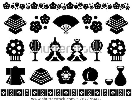 ikon · Japán · ikonok · japán · császár · babák - stock fotó © olena