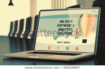 Business Prediction on Laptop in Meeting Room. 3D. Stock photo © tashatuvango
