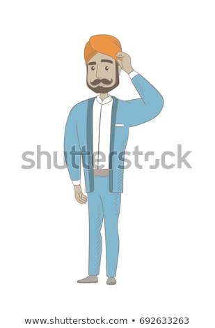 Young hindu businessman scratching his head. Stock photo © RAStudio