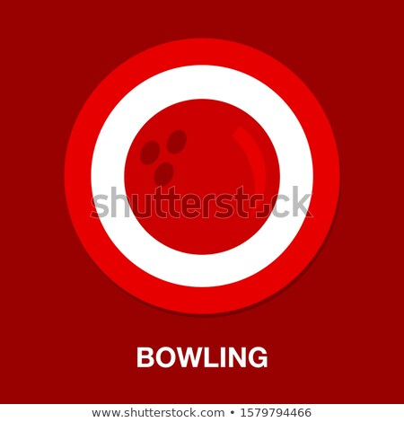 Шар для боулинга изолированный белый спорт весело мяча Сток-фото © konturvid