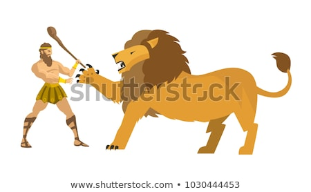 Attacking lion with a sword Stock photo © Genestro