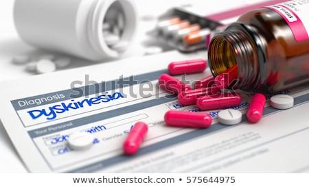 Diagnosis - Dyskinesia. Medicine Concept. 3D Illustration. Stock photo © tashatuvango