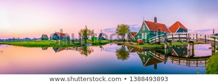 skyline of old town Zaanse Schans Stock photo © neirfy
