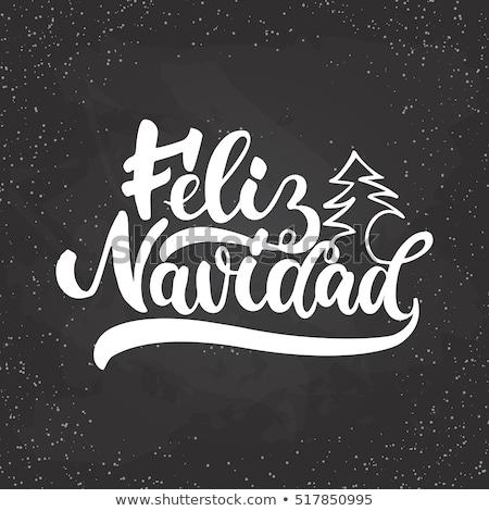 Natal ilustração espanhol tipografia colorido Foto stock © articular