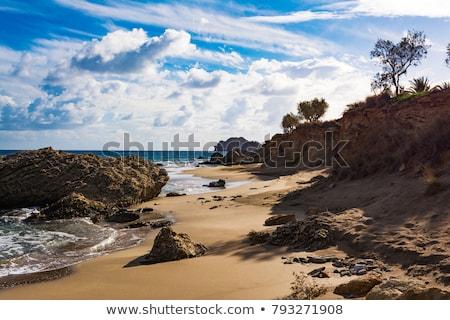 Stockfoto: Mooie · Grieks · zeegezicht · strand · zee · oceaan