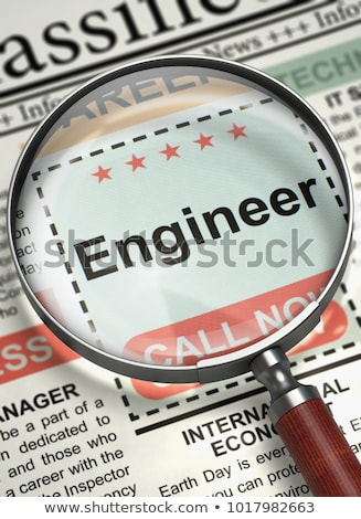 Stock photo: Engineer Hiring Now. 3D.