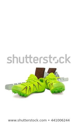 Entrenador zapatos blanco aislado deporte ejecutar Foto stock © wavebreak_media