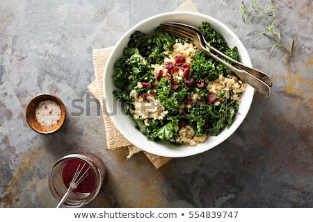 Kale and quinoa salad Stock photo © YuliyaGontar