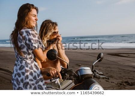 kék · moped · motorkerékpár · izolált · fehér · városi - stock fotó © is2