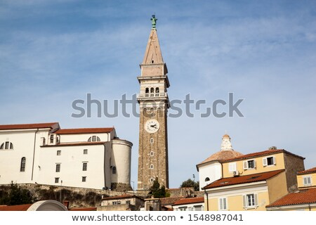 Bell clock tower in Piran, Slovenia Stock photo © stevanovicigor