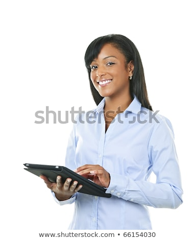 Businesswoman using a handheld computer Stock photo © IS2