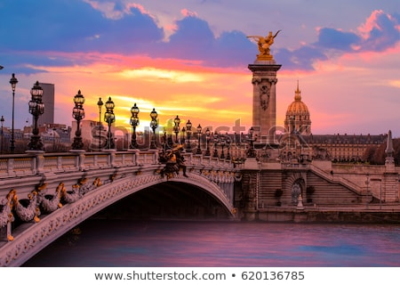River and bridge in Paris Stock photo © Givaga