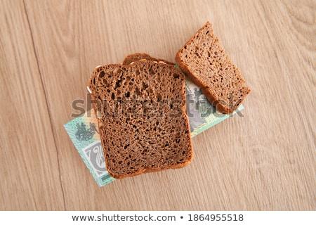 Dolar dilim ekmek para kâğıt buğday Stok fotoğraf © Alexan66