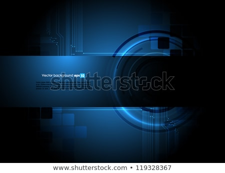 Black abstract background with blue rectangles, modern vector widescreen background, simple texture  Stock photo © kurkalukas