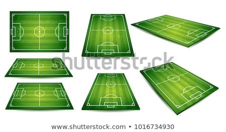 Soccer field, European Football stadium. Court for sport game. vector Stock photo © Andrei_
