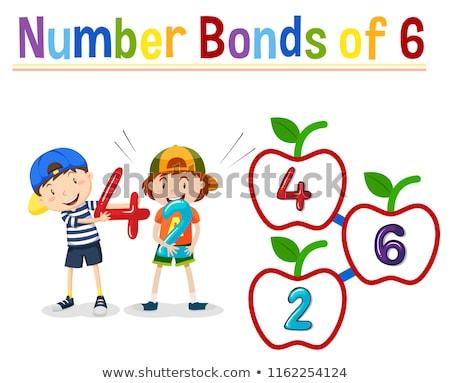 Number bonds of six Stock photo © bluering