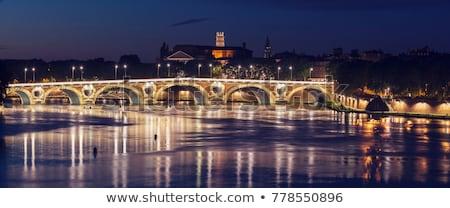 Bazilika su kilise köprü ufuk çizgisi nehir Stok fotoğraf © benkrut