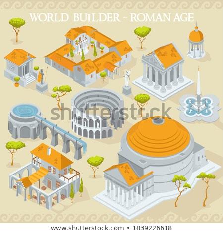 kilátás · bazilika · centrum · Róma · Olaszország · épület - stock fotó © givaga