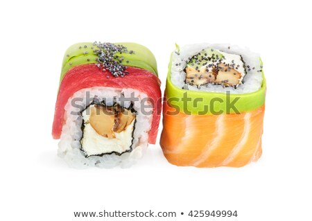 Two pieces of sushi roll of Philadelphia Stock photo © Cipariss