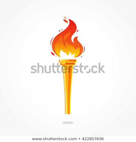 Kırmızı yangın el feneri vektör örnek yalıtılmış Stok fotoğraf © cidepix