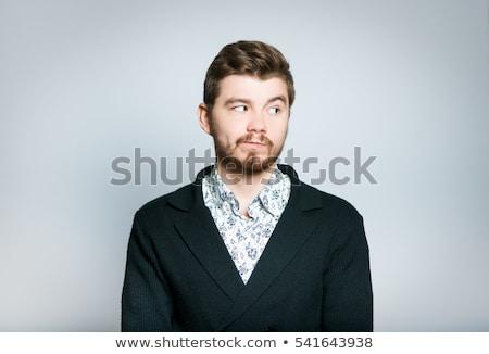 meraklı · adam · portre · genç · komik - stok fotoğraf © feedough