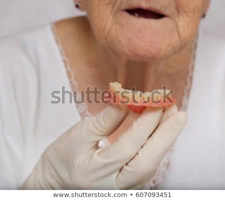 short hair old women_complex Stock photo © toyotoyo