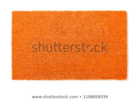 Blank Orange Welcome Mat Isolated on White Background Ready For  Stock photo © feverpitch