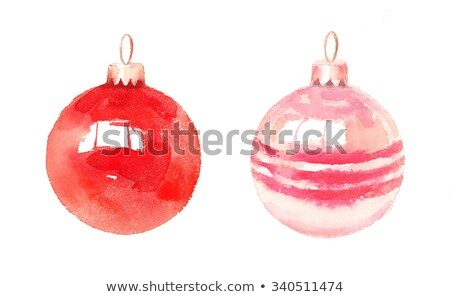 watercolor christmas ball isolated on a white background stock photo © natalia_1947