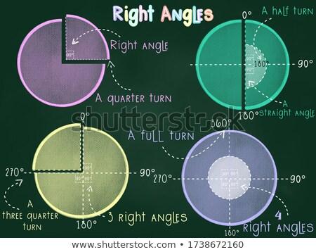 Teaching Materials Geometric Angles Illustration Stock photo © lenm