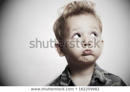 ragazzo · re · isolato · bianco · teatro · kid - foto d'archivio © acidgrey