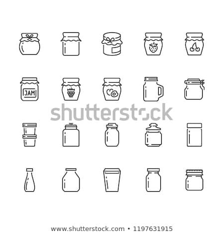 Raspberry Jam or Berry Marmalade in Glass Jar Stock photo © robuart