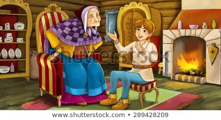 Malade cartoon conte de fées illustration regarder livre Photo stock © cthoman