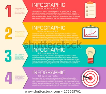 business flat infographic template with text fields vector illustration design stock photo © linetale